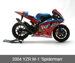 Scale Model of the 2004 Yamaha YZR-M1 'Spiderman